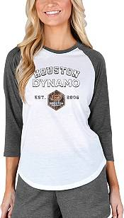 Concepts Sport Women's Houston Dynamo Crescent White Long Sleeve Top product image