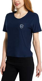 Concepts Sport Women's Sporting Kansas City Zest Navy Short Sleeve Top product image