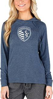 Concepts Sport Women's Sporting Kansas City Crescent Navy Long Sleeve Top product image