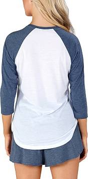Concepts Sport Women's Los Angeles Galaxy Crescent White Long Sleeve Top product image