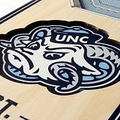"You The Fan North Carolina Tar Heels 6""x19"" 3-D Banner product image"