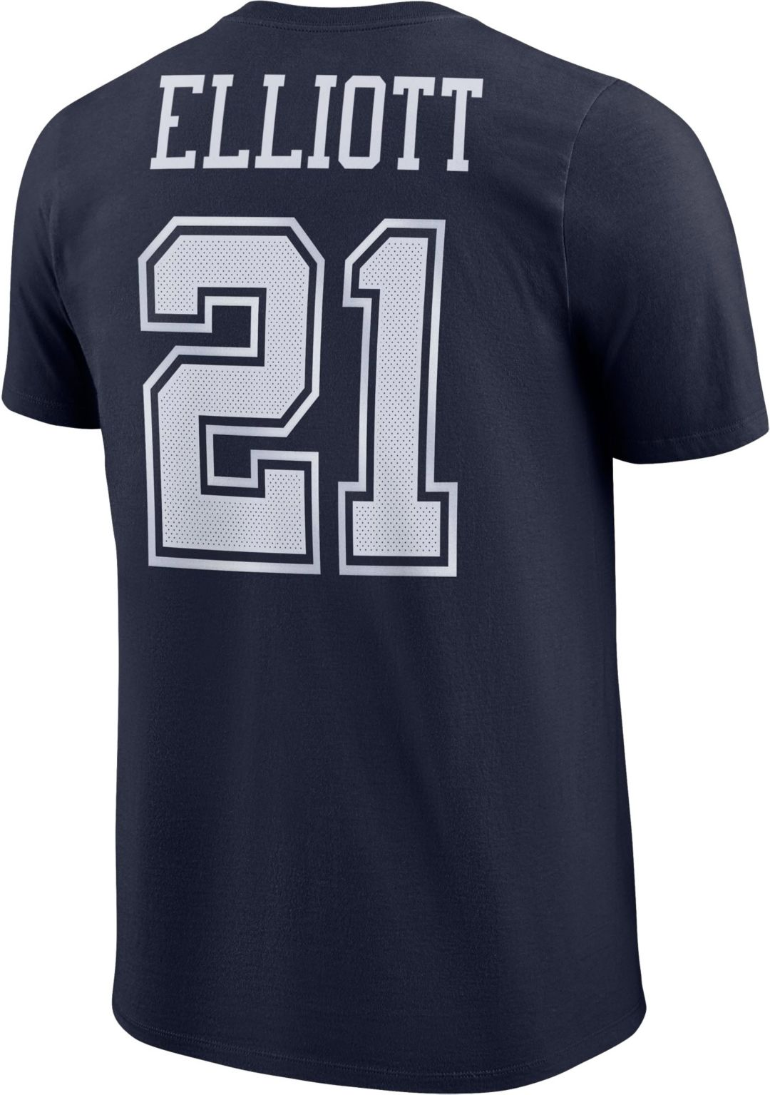 the latest 12992 dfa84 Nike Men's Dallas Cowboys Ezekiel Elliott #21 Pride Navy T-Shirt