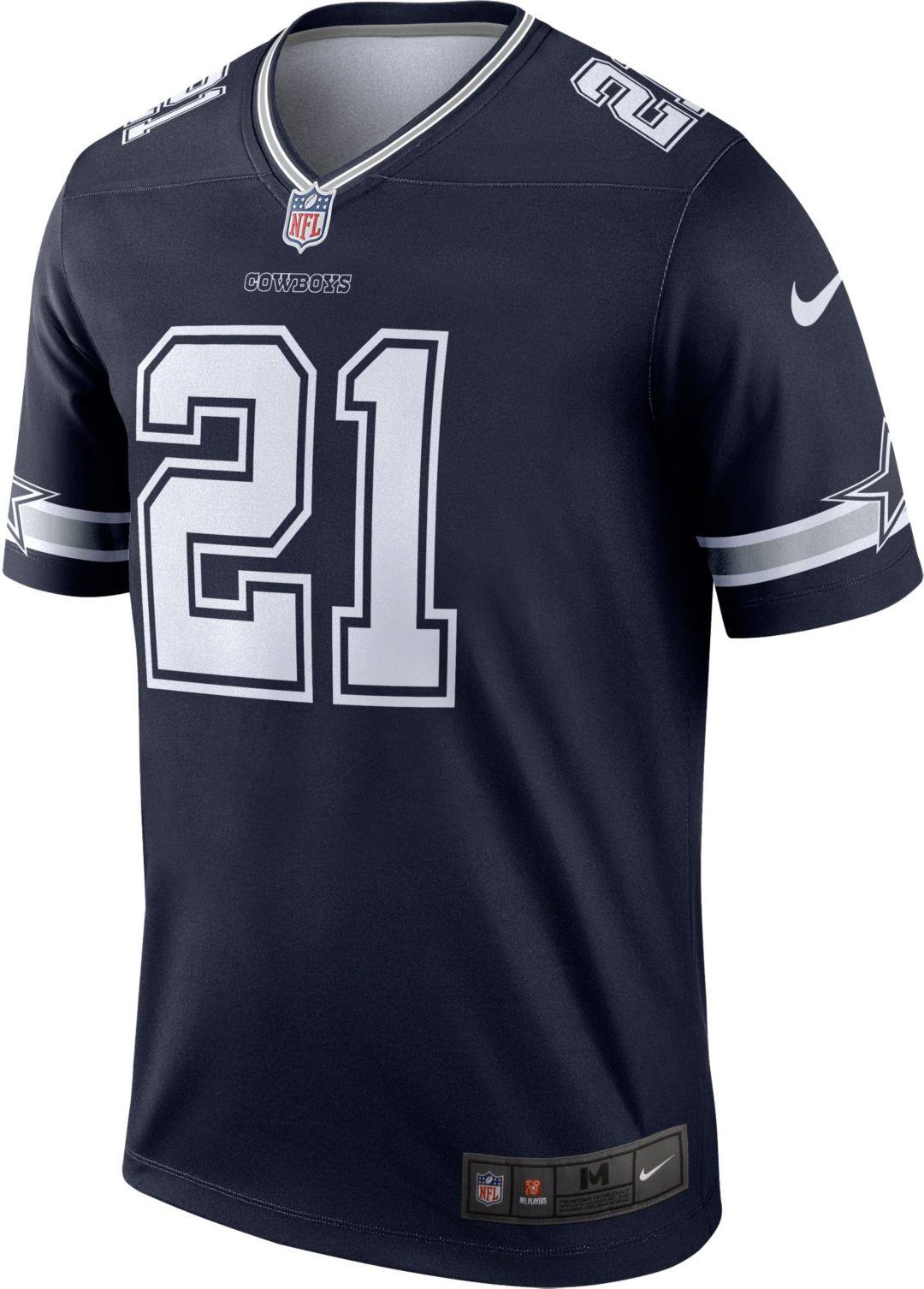 size 40 1f112 0cdff Nike Men's Legend Jersey Dallas Cowboys Ezekiel Elliott #21