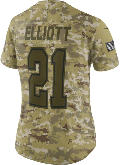 3416be9fcc3 Nike Women's Salute to Service Dallas Cowboys Ezekiel Elliott #21 ...