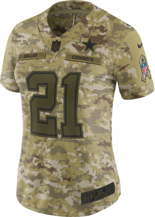 5c6b7de2834 Nike Women's Salute to Service Dallas Cowboys Ezekiel Elliott #21  Camouflage Limited Jersey. noImageFound. Previous. 1. 2