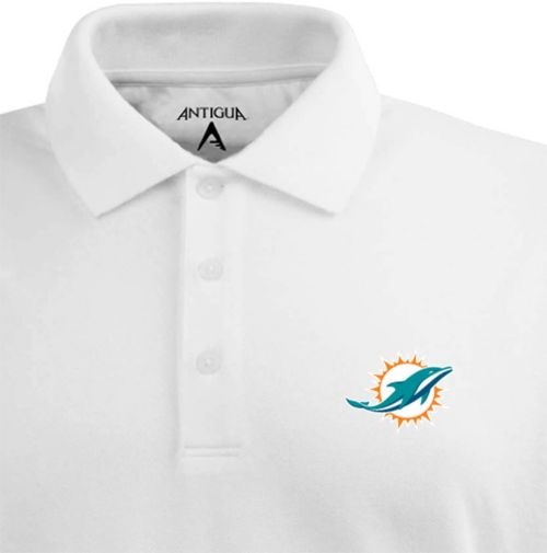 huge selection of 97923 9cb78 Antigua Men s Miami Dolphins White Xtra-Lite Pique Polo. noImageFound.  Previous. 1. 2