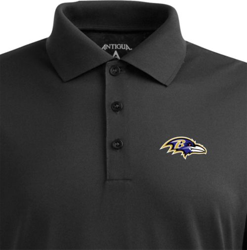 4a34d54f Antigua Men's Baltimore Ravens Black Pique Xtra-Lite Polo