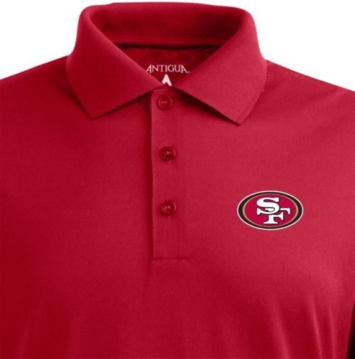 818ee6753 Antigua Men s San Francisco 49ers Pique Xtra-Lite Dark Red Polo ...