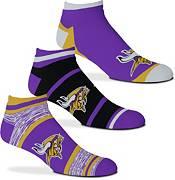 For Bare Feet Minnesota Vikings 3-Pack Socks product image