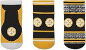 For Bare Feet Pittsburgh Steelers 3-Pack Socks product image
