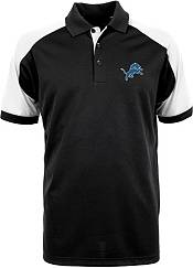 Antigua Men's Detroit Lions Century Black Polo product image