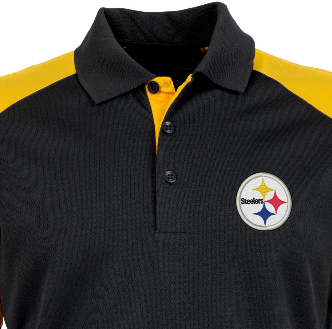 cheap for discount d9efc 9f3d1 Antigua Men's Pittsburgh Steelers Century Black Polo