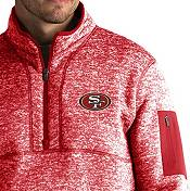 Antigua Men's San Francisco 49ers Fortune Red Pullover Jacket product image