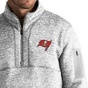 Antigua Men's Tampa Bay Buccaneers Fortune Grey Pullover Jacket product image