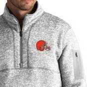 Antigua Men's Cleveland Browns Fortune Grey Pullover Jacket product image