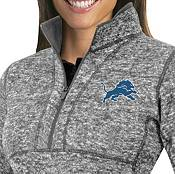 Antigua Women's Detroit Lions Fortune Grey Pullover Jacket product image
