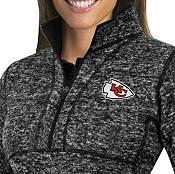 Antigua Women's Kansas City Chiefs Fortune Black Pullover Jacket product image