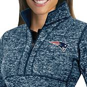 Antigua Women's New England Patriots Fortune Navy Pullover Jacket product image