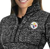 Antigua Women's Pittsburgh Steelers Fortune Black Pullover Jacket product image