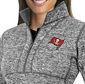 Antigua Women's Tampa Bay Buccaneers Fortune Grey Pullover Jacket product image