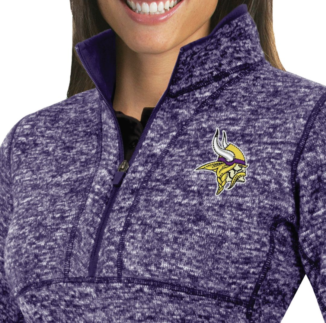 new york f35c5 4fcf0 Antigua Women's Minnesota Vikings Fortune Purple Pullover Jacket