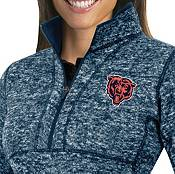 Antigua Women's Chicago Bears Fortune Navy Pullover Jacket product image