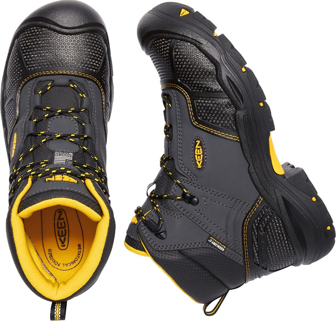 cdefdb100fc KEEN Men's Logandale Waterproof Steel Toe Work Boots