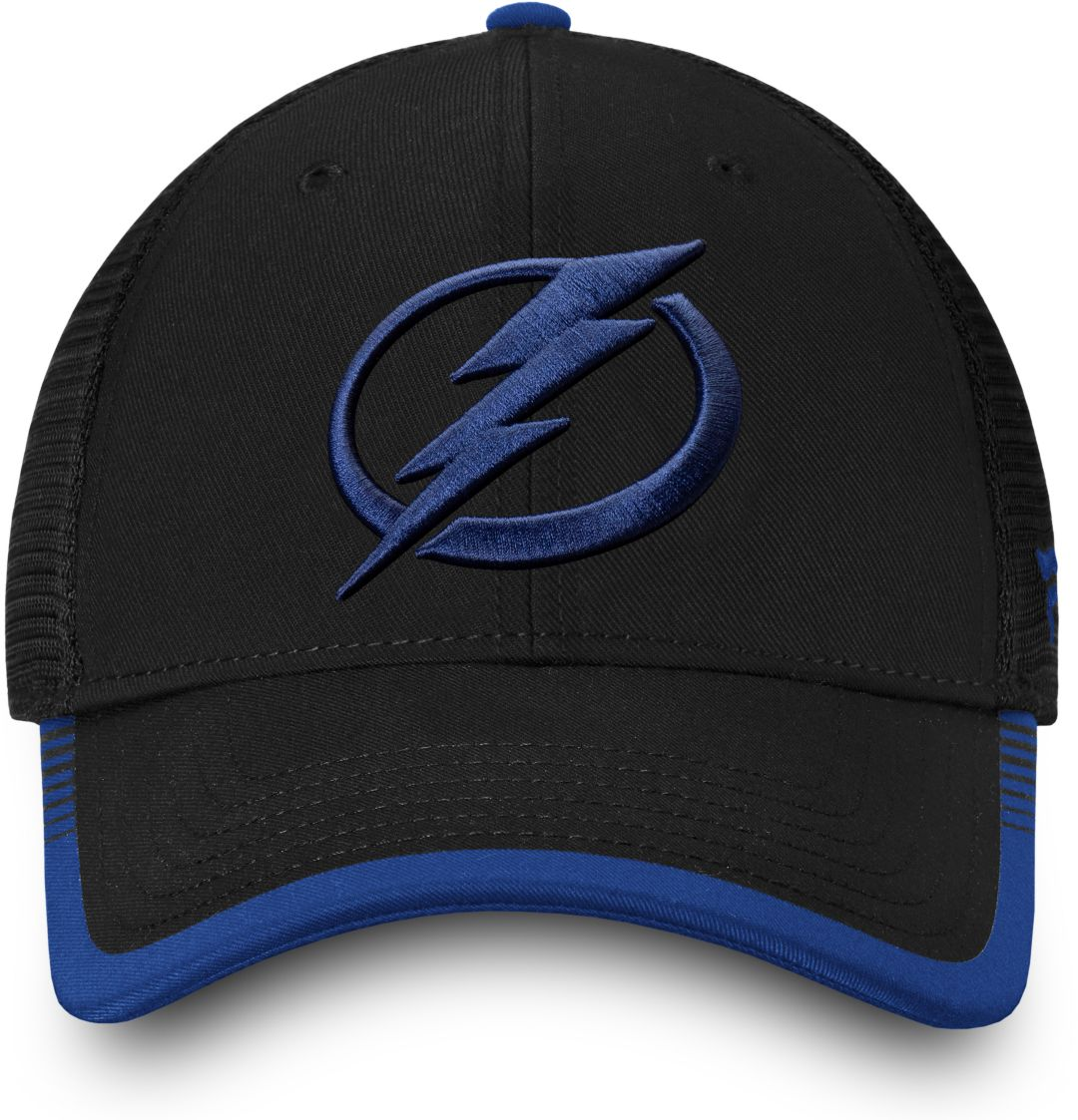the best attitude 2cc9e e17a3 NHL Men s Tampa Bay Lightning Stripe Trucker Blue Snapback Adjustable Hat 2