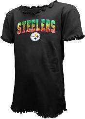New Era Youth Girls' Pittsburgh Steelers Black Flip Sequins T-Shirt product image