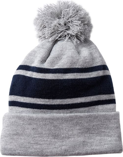 1742c38e8bf Bauer Senior New Era Team Striped Pom-Pom Beanie