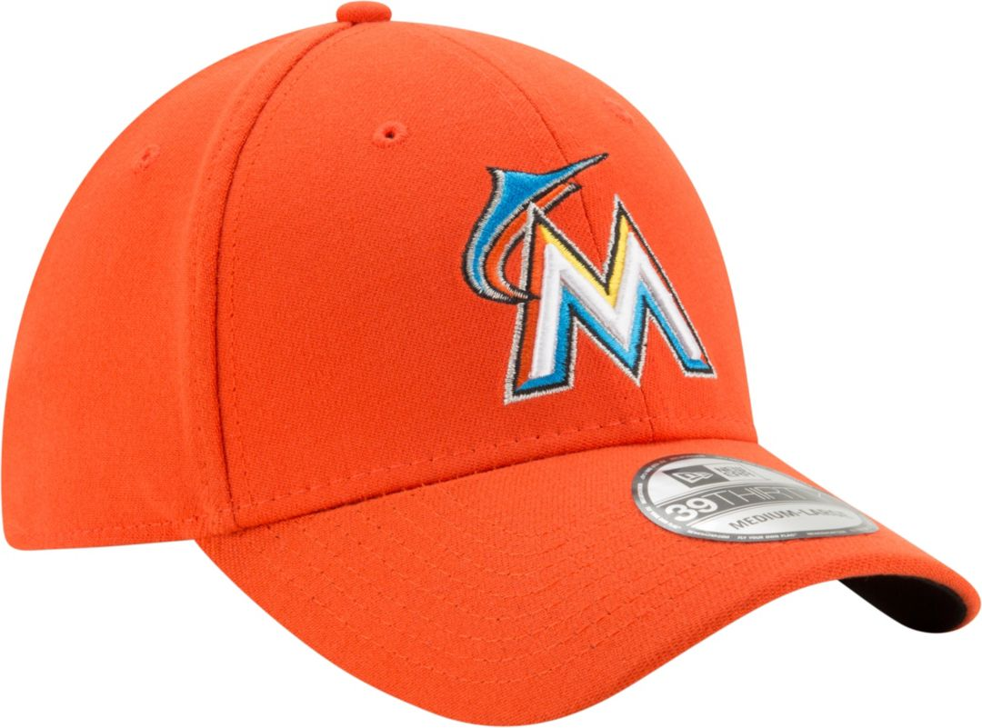 ad70fe2e New Era Men's Miami Marlins 39Thirty Orange Stretch Fit Hat | DICK'S ...