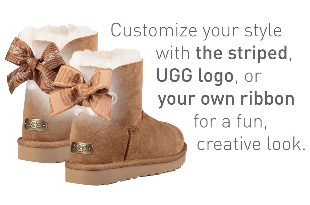 0ded8b42302 UGG Women's Customizable Bailey Bow Short Casual Boots