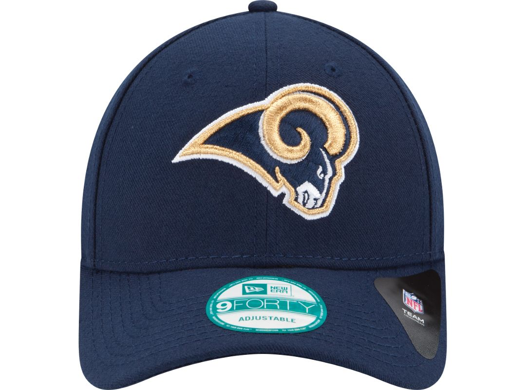 pretty nice 557a6 47cd4 New Era Men s Los Angeles Rams League 9Forty Navy Adjustable Hat 2