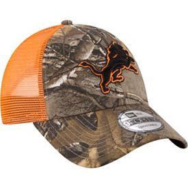 12e328406a85e8 New Era Men's Detroit Lions Real Tree 9Forty Orange Camo Adjustable ...