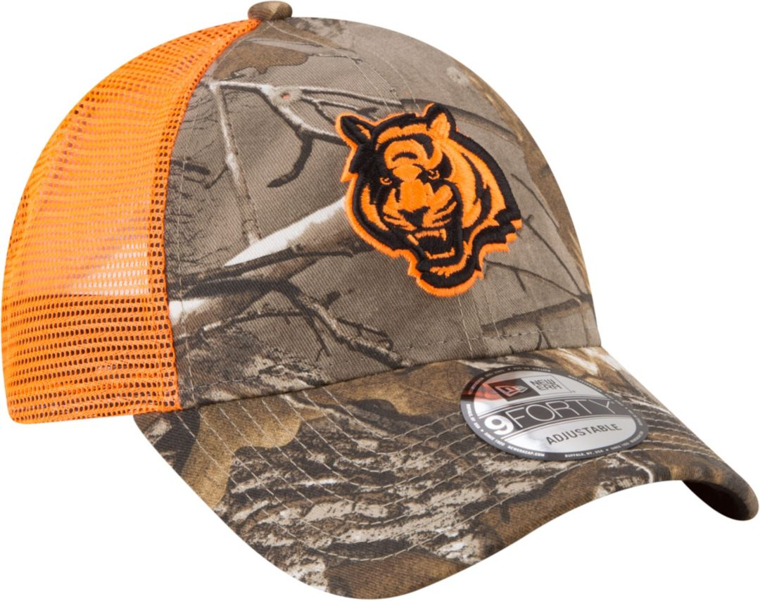 f5bd0d5a1d88b New Era Men s Cincinnati Bengals Real Tree 9Forty Orange Camo Adjustable Trucker  Hat 3