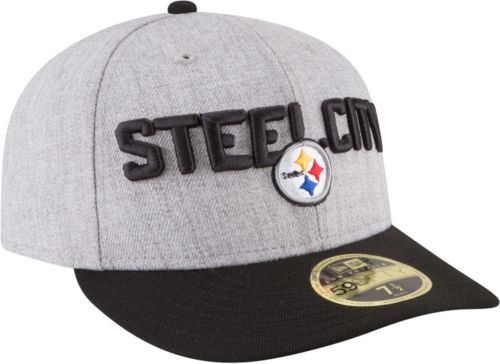 New Era Men s Pittsburgh Steelers 2018 NFL Draft 59Fifty Fitted Grey Hat.  noImageFound. Previous. 1. 2. 3 d243ce0a8