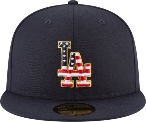 4b582f3a186 New Era Men s Los Angeles Dodgers 59Fifty 2018 4th of July Fitted ...