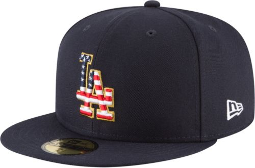 ac2cd95060e New Era Men s Los Angeles Dodgers 59Fifty 2018 4th of July Fitted ...