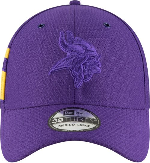 56063866354 New Era Men s Minnesota Vikings Sideline Color Rush 39Thirty Purple Stretch  Fit Hat