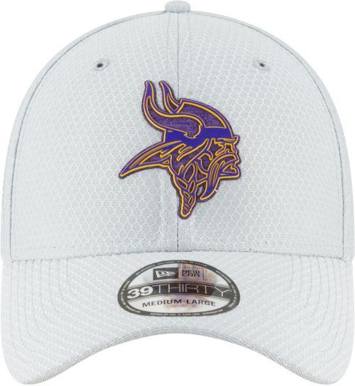 newest a3b5d b506c New Era Men s Minnesota Vikings Sideline Training Camp 39Thirty Grey  Stretch Fit Hat