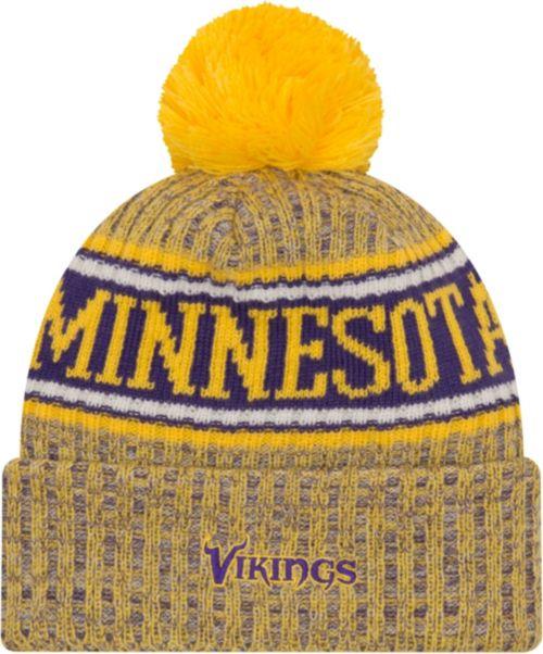 2e5453d941b New Era Men s Minnesota Vikings Sideline Cold Weather Reverse Yellow ...