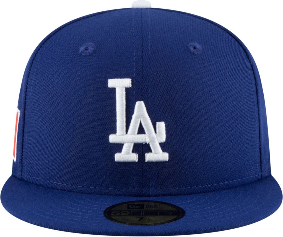 f0fa29b6 New Era Men's Los Angeles Dodgers 59Fifty Fitted Hat w/ Mexican Flag Patch