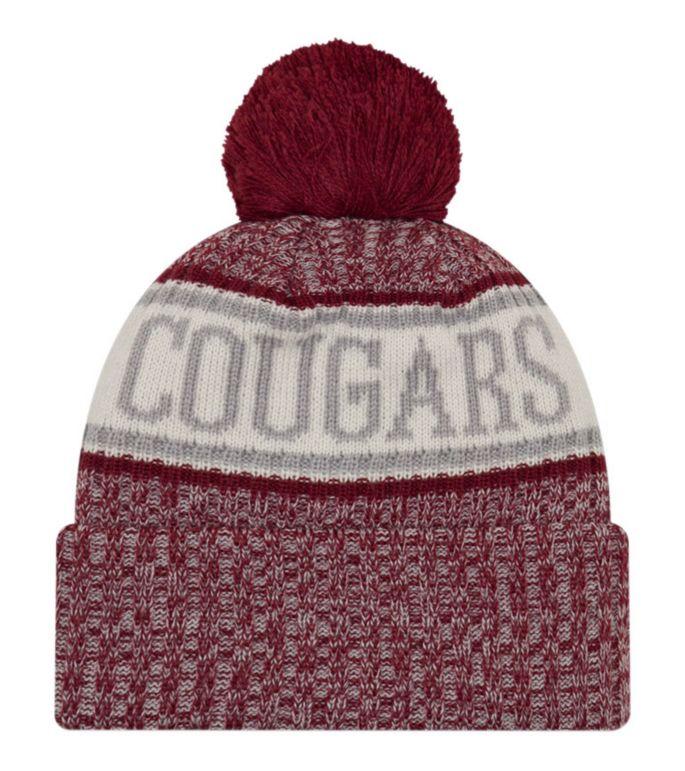 half price latest design sale uk New Era Men's Washington State Cougars Crimson Sport Knit Beanie ...