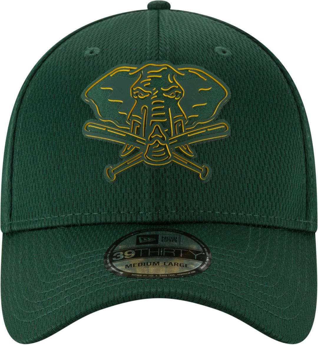 more photos 1f5dd 3efd6 New Era Men s Oakland Athletics 39Thirty Clubhouse Green Stretch Fit Hat.  noImageFound. Previous. 1. 2