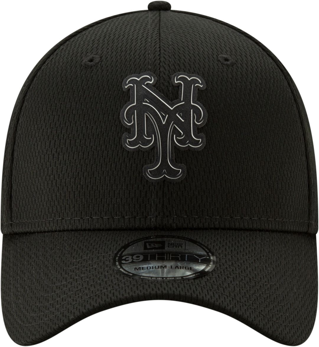 official photos 550d9 b55c7 New Era Men s New York Mets 39Thirty Clubhouse Black Stretch Fit Hat.  noImageFound. Previous. 1. 2