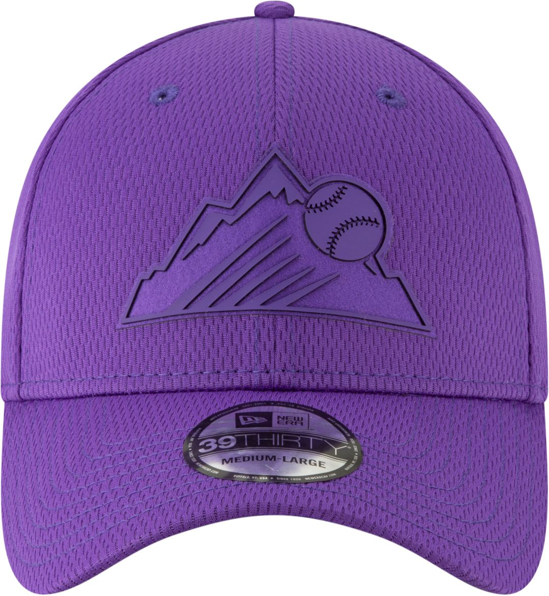 reputable site 4ab1d 0f8eb New Era Men s Colorado Rockies 39Thirty Clubhouse Purple Stretch Fit Hat