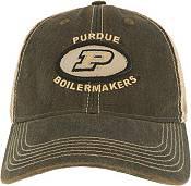 League-Legacy Men's Purdue Boilermakers Old Favorite Adjustable Trucker Black Hat product image