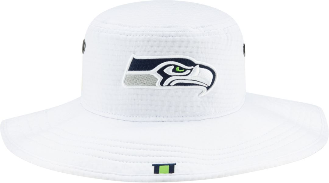 ef9918cd New Era Men's Seattle Seahawks Sideline Training Camp Panama White Bucket  Hat