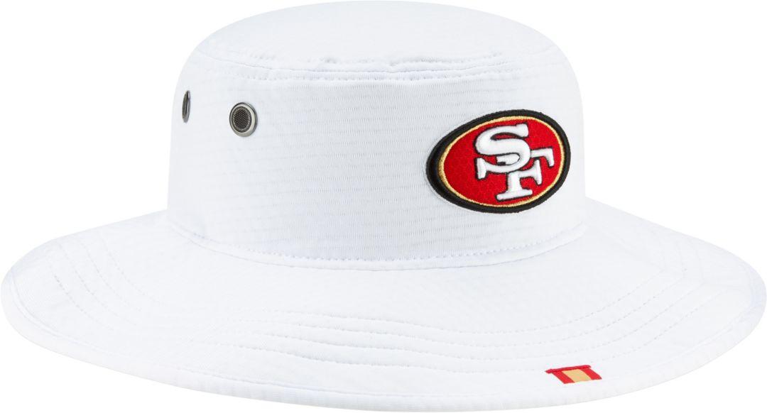 ce279a603 New Era Men's San Francisco 49ers Sideline Training Camp Panama White  Bucket Hat