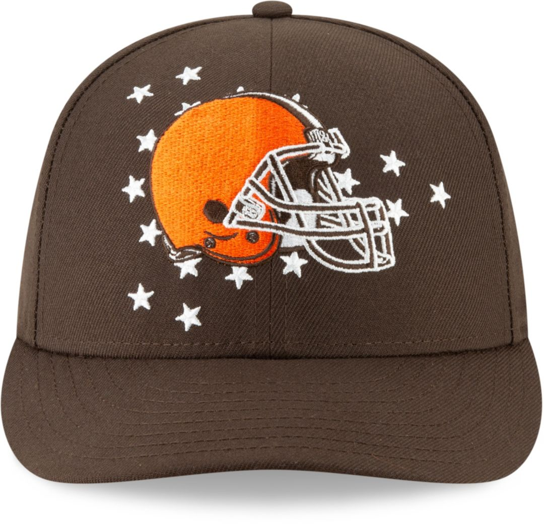 8eb3fe0fd New Era Men's Cleveland Browns 2019 NFL Draft 59Fifty Fitted Brown Hat